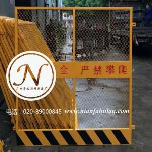 广州烤漆丝印电梯井口门(带踢脚板)细节图 (1)