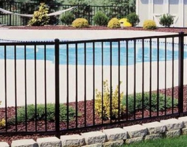 出口定制平顶横梁防锈锌钢泳池护栏