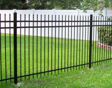 高品质小区别墅铁艺黑色尖头锌钢护栏