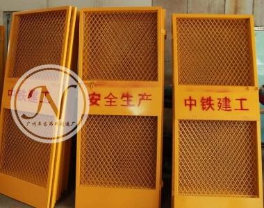 钢板网+铁板电梯防护门